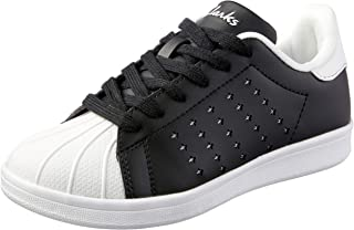 Clarks Boys' Decker Lace-Up Flats, Black/White E