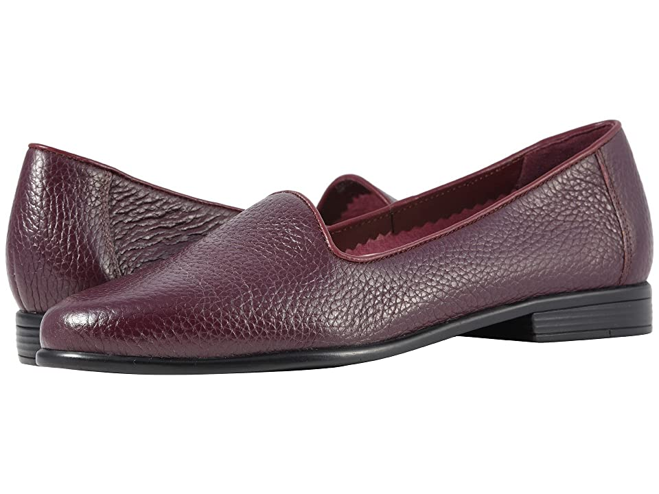 Trotters Liz Tumbled (Burgundy Very Soft Tumbled Leather) Women