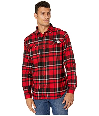 Columbia College Nebraska Cornhuskers Collegiate Flare Guntm Flannel Long Sleeve Shirt (Bright Red Plaid) Men