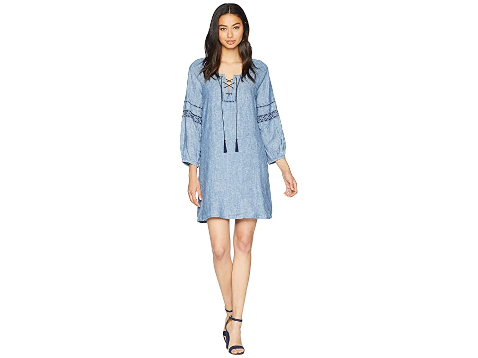 Sanctuary Mirabelle Lace-Up Dress (Raven Wash) Women