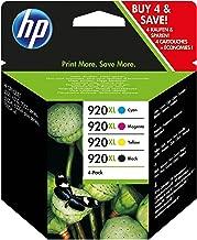 HP C2N92AE 920XL Cartucho de Tinta Original de alto rendimiento, 4 unidades, negro, cian, magenta y amarillo