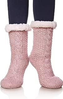 Women's Sequin Super Soft Warm Cozy Fuzzy Fleece-lined Winter Christmas gift Slipper socks