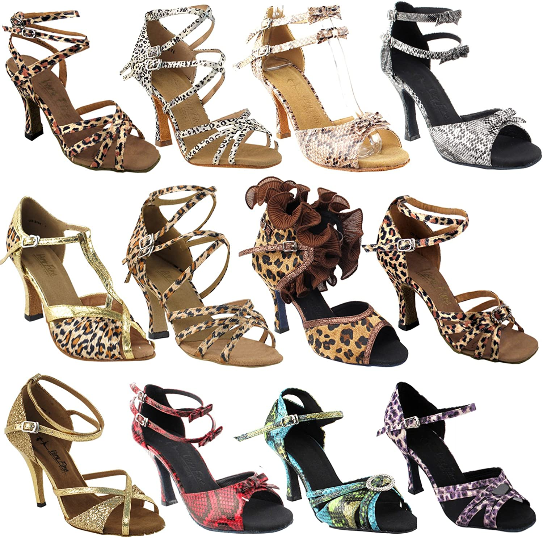 50 Shades Animal Prints Ballroom Latin Dance Shoes for Women: Ballroom Salsa Wedding Clubing Swing