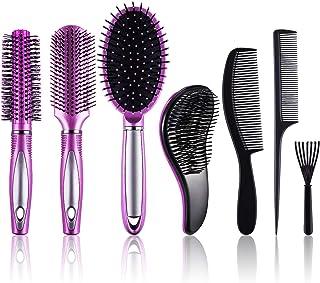 برس برس و شانه برس SIQUK 7 عدد برس برس موی برس و برس های مرطوب مرطوب موهای مردانه