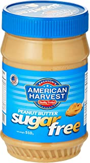 American Harvest Peanut Butter Creamy Sugar Free Fructose Sweetened, 510 gm
