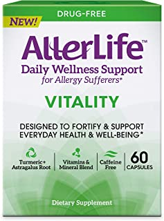 AllerLife Vitality Capsules, Daily Allergy Supplements for Everyday Health and Well-Being, 60-Count