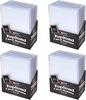"BCW Topload Card Holder for Standard Trading Cards ,3"" x 4""  ,Up to 20 pts, 100-Count"