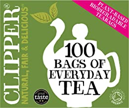 Clipper Organic Everyday 100 Teabags (Pack of 6, total 600
