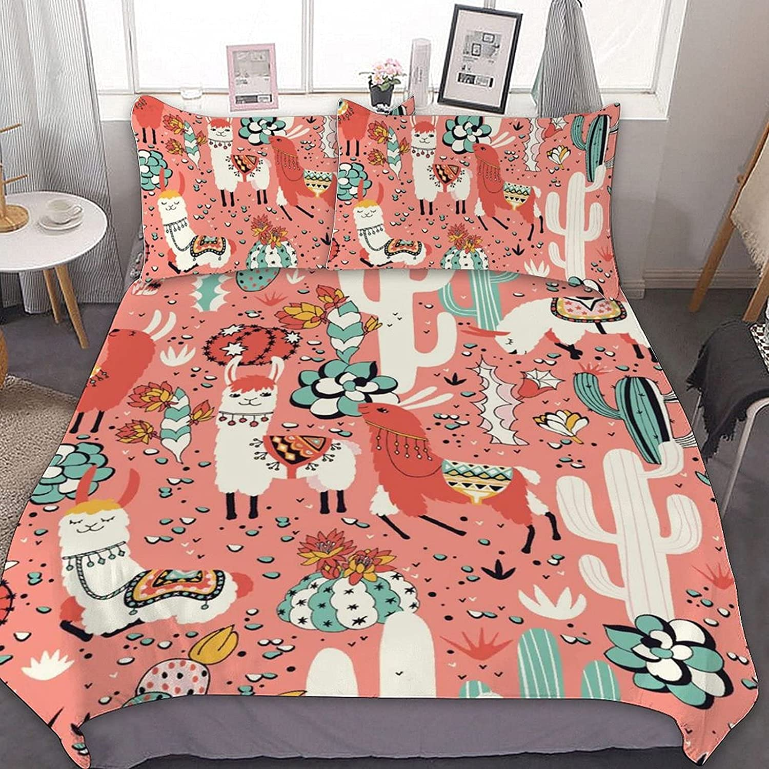 PNNUO Lama in Cactus Jungles Queen Genuine Free Shipping Bed Size King Set Full Twin C Super-cheap