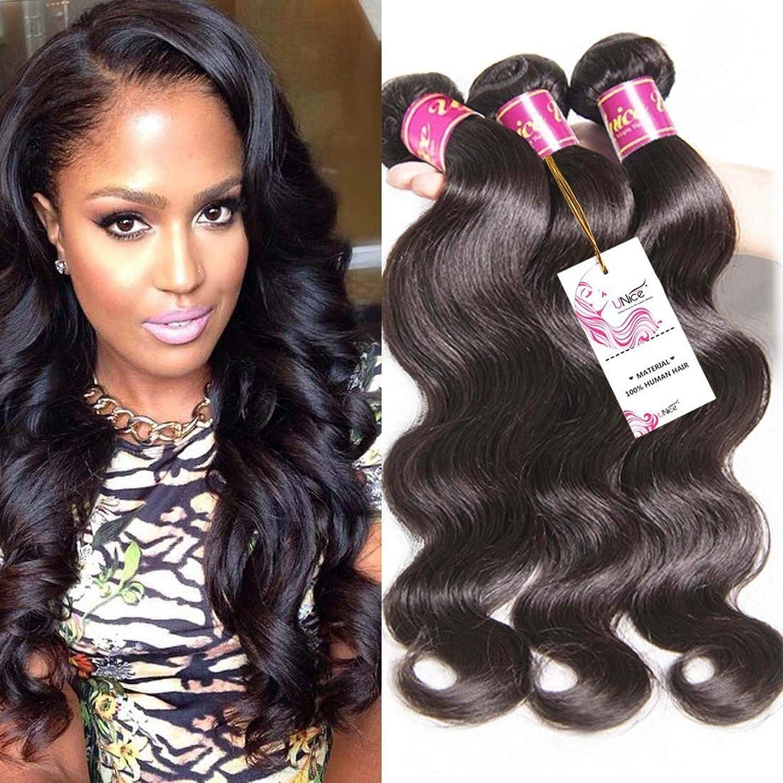 Unice Hair Brazilian Virgin Human Weave Bundles Body 3pcs W Popular standard Time sale