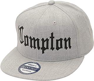 YourStyle USA Snapback Baseball Hat – Trucker Cap Flat 3D Comptopn Bompton Logo Bill Embroidery Adjustable Unisex Women Men