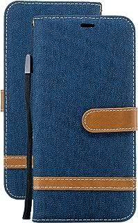 Laybomo Coque pour Samsung Galaxy A60 Etui Housse PU Cuir Pochette Portefeuille Coque Aimant Protecteur Doux TPU Cover Rouge Cadre Photo Housse Coque Etui Samsung Galaxy A60 // SM-A606F