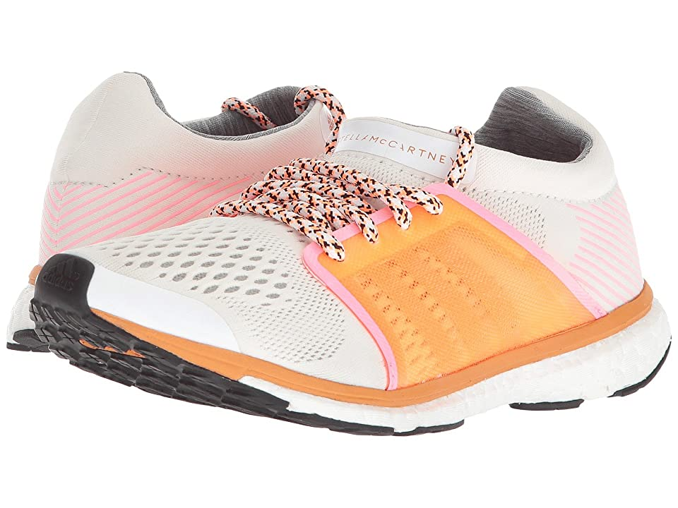 adidas by Stella McCartney Adizero Adios (Core White/Glow Orange S14/Hyper Pop F12) Women