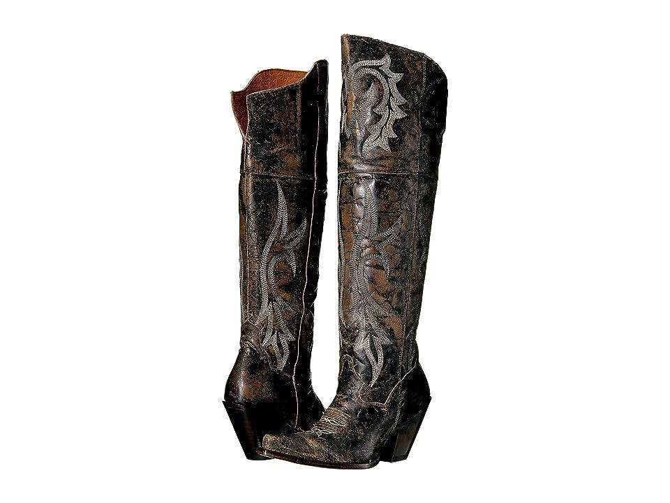Dan Post Jilted (Black Distressed) Cowboy Boots