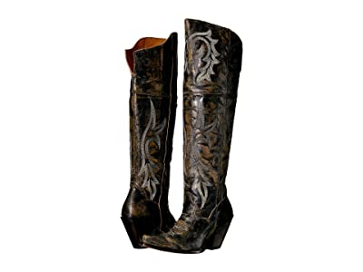 Dan Post Jilted (Black Distressed) Cowboy Boots