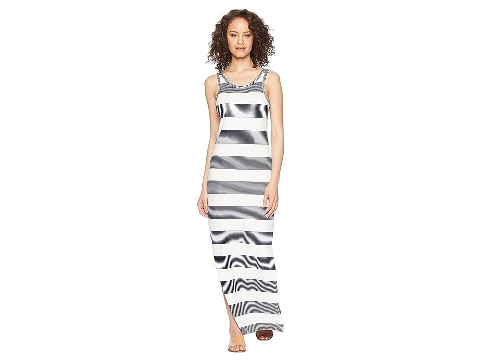 Roxy Tuba Stripes Maxi Dress (Marshmallow Dress Blue Docker) Women