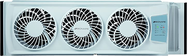 Holmes Group Bionaire Thin Window Fan with Manual Controls(BWF0502M-WM)