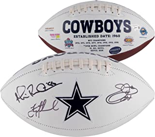 Troy Aikman, Michael Irvin & Emmitt Smith Dallas Cowboys Multi-Signed White Panel Football - Fanatics Authentic Certified