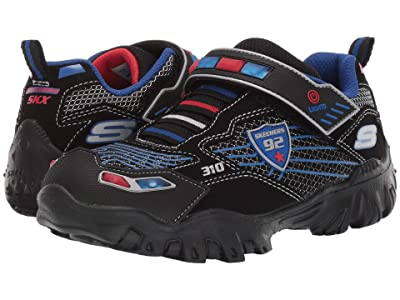 SKECHERS KIDS Sport Lighted Damager III 400020L (Little Kid/Big Kid) (Black/Red/Blue) Boy