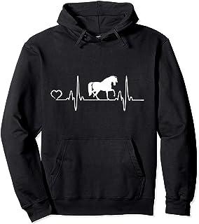 Cadeau pour L'équitation de Cheval pour Femmes et de Filles Sweat à Capuche