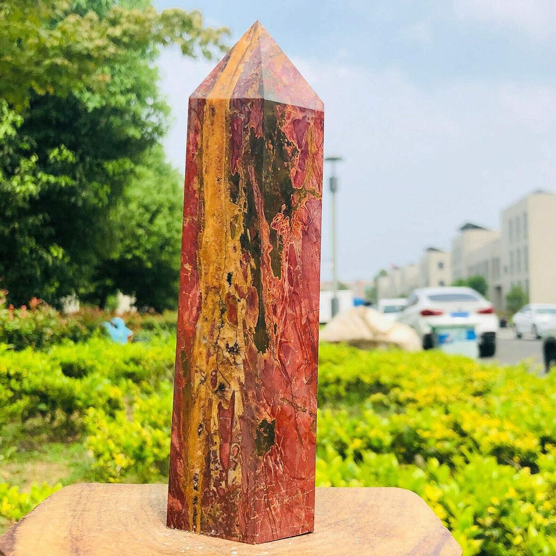 770gnatural Korean Pine Stone Tampa Mall Max 43% OFF Quartz Point Obelisk Wand Crystal