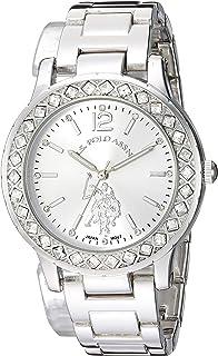 U.S. Polo Assn. Women's Analog-Quartz Watch with Alloy Strap, Silver, 15.9 (Model: USC40329)