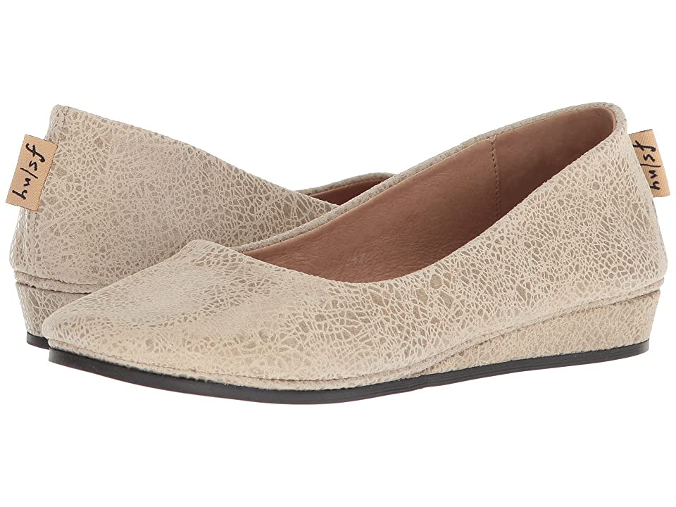 French Sole Zeppa Flat (Ecru Swirl Print) Women