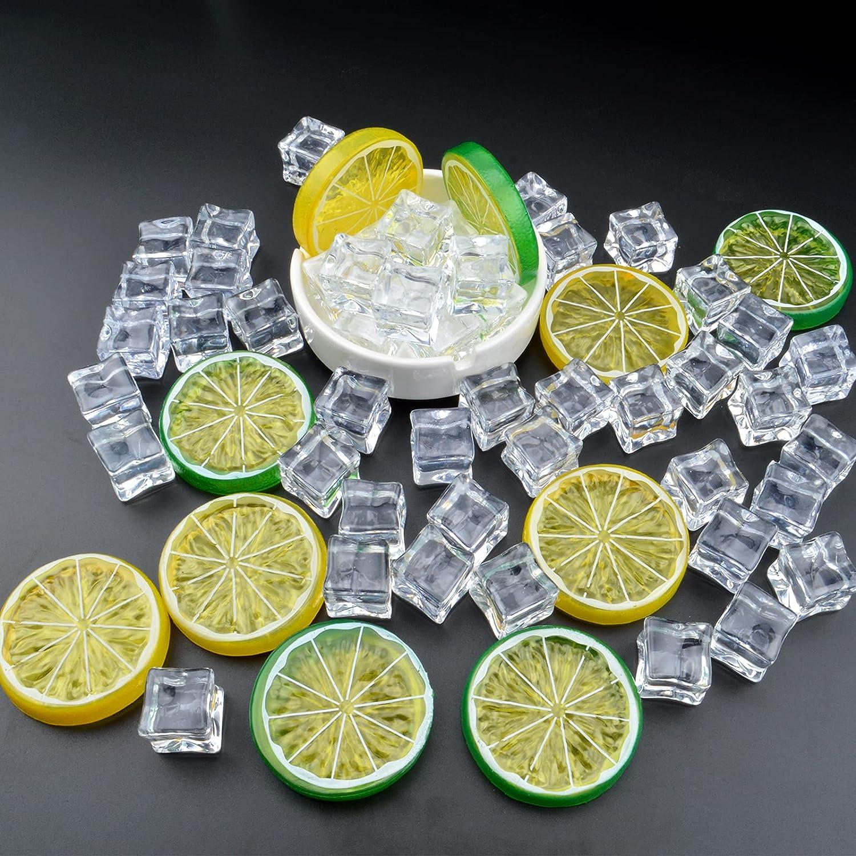 Broadsheet 60 Pack Fake Year-end gift ice Cubes 50 Set i Pcs Max 80% OFF Lemon Slice