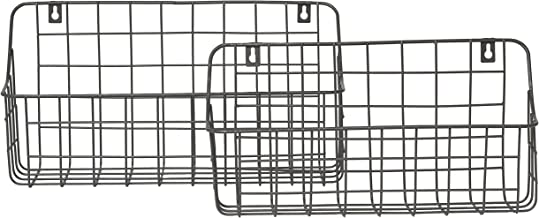 RGI Home Metal Wire Storage Baskets - Modern Farmhouse Hanging Wall and Counter Shelf Organizers Made with Durable Metal, ...