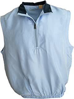 Men's Silk Lightweight Sleeveless Half-Zip Golf Pullover Water Repellent