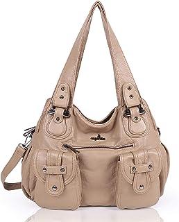 a1f9a106bd Angel Kiss Fashion sac à bandoulière pour femme sac à main en cuir  synthétique imperméable Multi