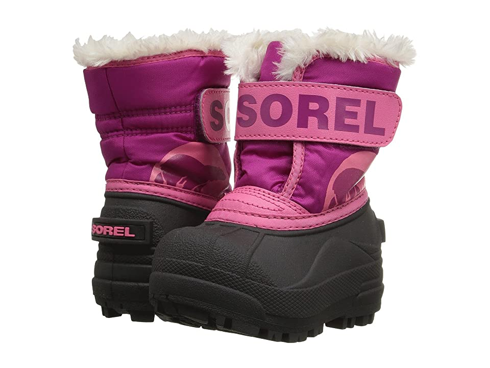 SOREL Kids Snow Commander (Toddler) (Tropic Pink/Deep Blush) Girls Shoes