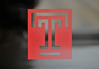 TEMPLE UNIVERSITY Die-Cut Vinyl Set of (2) or Single for Auto Decal, Laptops, Yeti, Gear, Best value