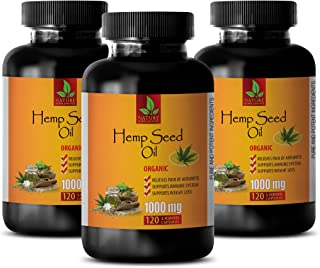 Anxiety Relief Extract - Hemp Oil Pills for Anxiety - Hemp Oil for Anxiety 1000mg Capsules - 3 Bottles 360 Liquid Capsules
