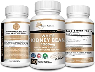 White Kidney Bean carb Blocker-Extra Strength, Premium Formula Appetite suppressant for Weight Loss and Fat Loss, Natural ...