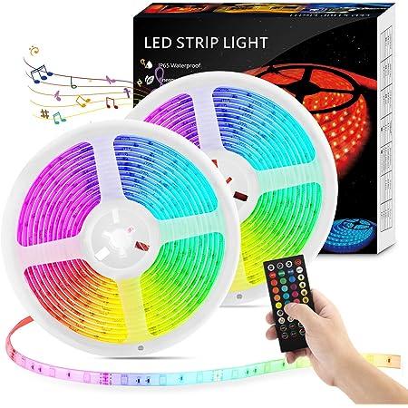 LED Strip Lights RGB 32.8ft Flexible LED Strips IP65 Waterproof Remote Fairy US