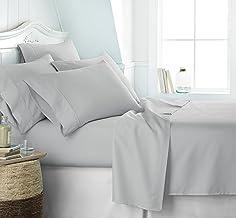 Simply Soft SS-6PC-TWIN-LGRAY Ultra Soft 6 Piece Bed Sheet Set, Twin, Light Gray