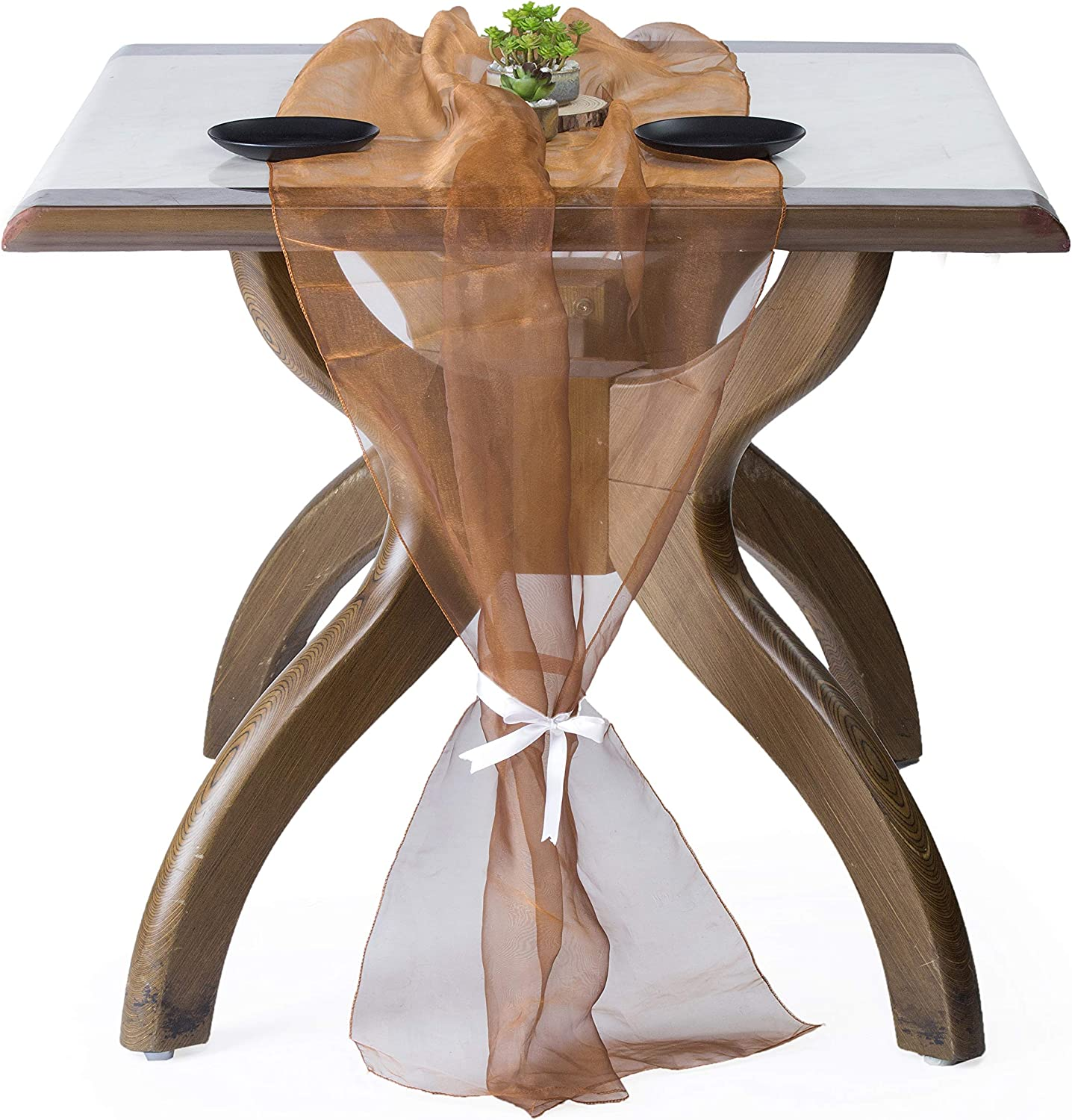 mds Pack Long Beach Mall Elegant of 5 Wedding 29 x Runner Table fo Organza 170 inch 14Ft