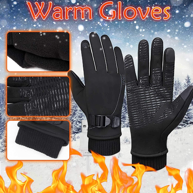 Winter Windproof and Warm Gloves, Outdoor Movement Touch-screen Men Women Plus velvet Thicken Gloves.