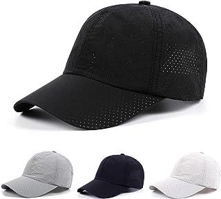 LESGO メッシュキャップ 帽子 キャップ 野球帽 UVカット 紫外線対策 通気性 速乾 軽薄 スポーツ帽子 登山 釣り ゴルフ 運転 アウトドア メッシュ帽 フリーサイズ 調整可能 男女兼用 4色対応