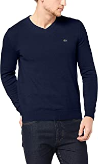 Lacoste Men's V Neck Cotton Sweater