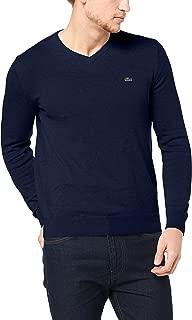 Lacoste Men's V Neck Cotton Sweater