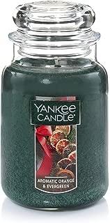 Yankee Candle Large Jar Candle, Aromatic Orange & Evergreen