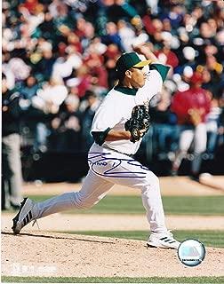 RICARDO RINCON OAKLAND A'S ACTION SIGNED 8x10 - Autographed MLB Photos