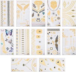 Beaupretty 12 Vellen Waterdichte Tijdelijke Tattoo Sticker Creatieve Party Body Stickers