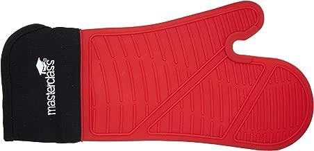 MasterClass 防水耐热硅胶烤箱手套 黑色/红色 Single MCSILGLOVE