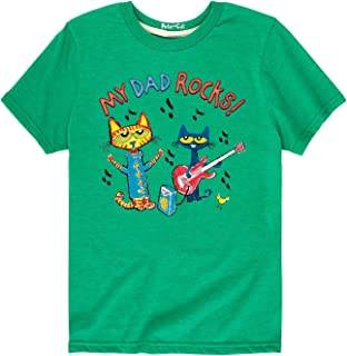 Pete the Cat My Dad Rocks - Toddler Short Sleeve Tee