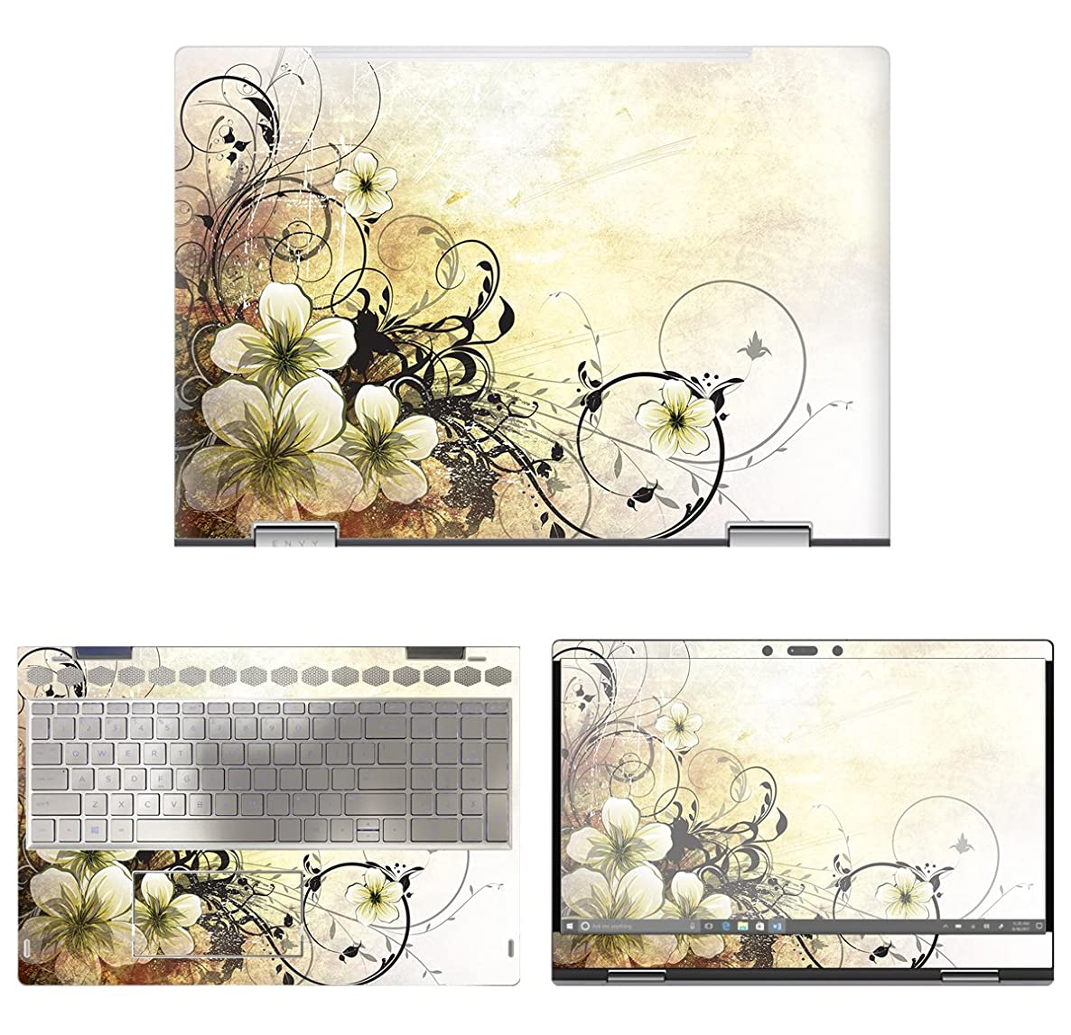 decalrus - Protective Decal Skin Sticker for HP Envy X360 15M-BP011DX (15.6