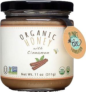 GREENBOW Organic Honey with Cinnamon - 100% USDA Certified Organic, Gluten Free, Non-GMO Organic Cinnamon Honey - Highest ...