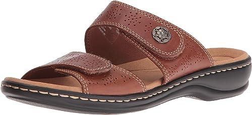 Clarks - Sandale Leisa Lacole pour pour pour Femme, 37 C D EUR, Tan Leather 65b